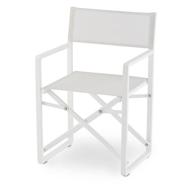 Tt945 silla director de cine en aluminio y textilene for Silla plegable blanca