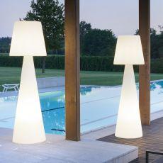 Pivot - Slide floor lamp en polyethylen, different sizes available, also for garden