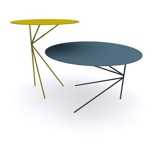 twin runder designer beistelltisch aus metall in. Black Bedroom Furniture Sets. Home Design Ideas