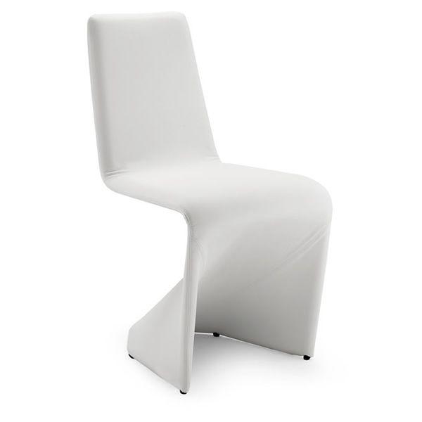 Kasper chaise design en simili cuir plusieurs couleurs for Chaise cuir blanc