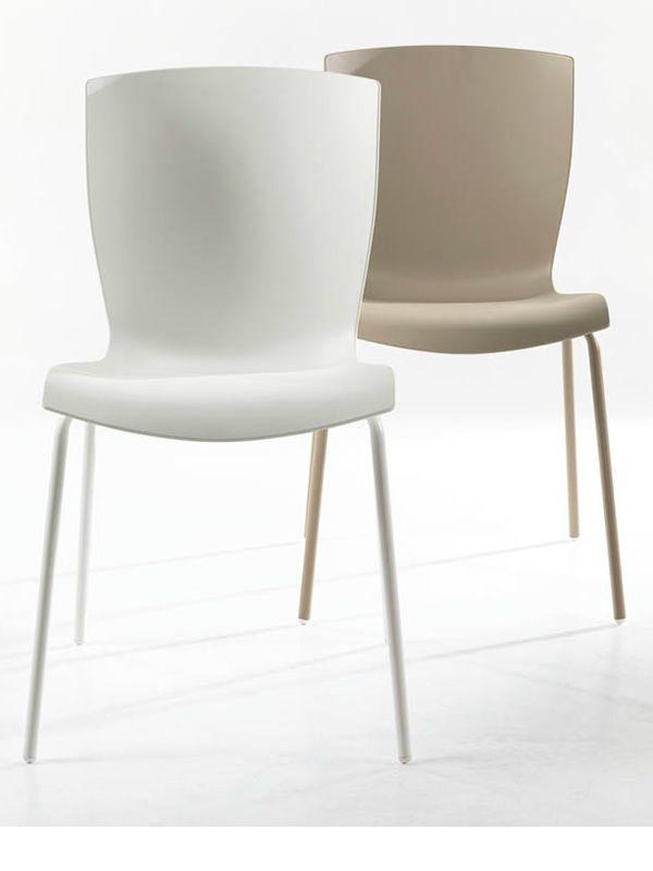 Rap sedia colico in acciaio seduta in polipropilene for Sedie design tortora