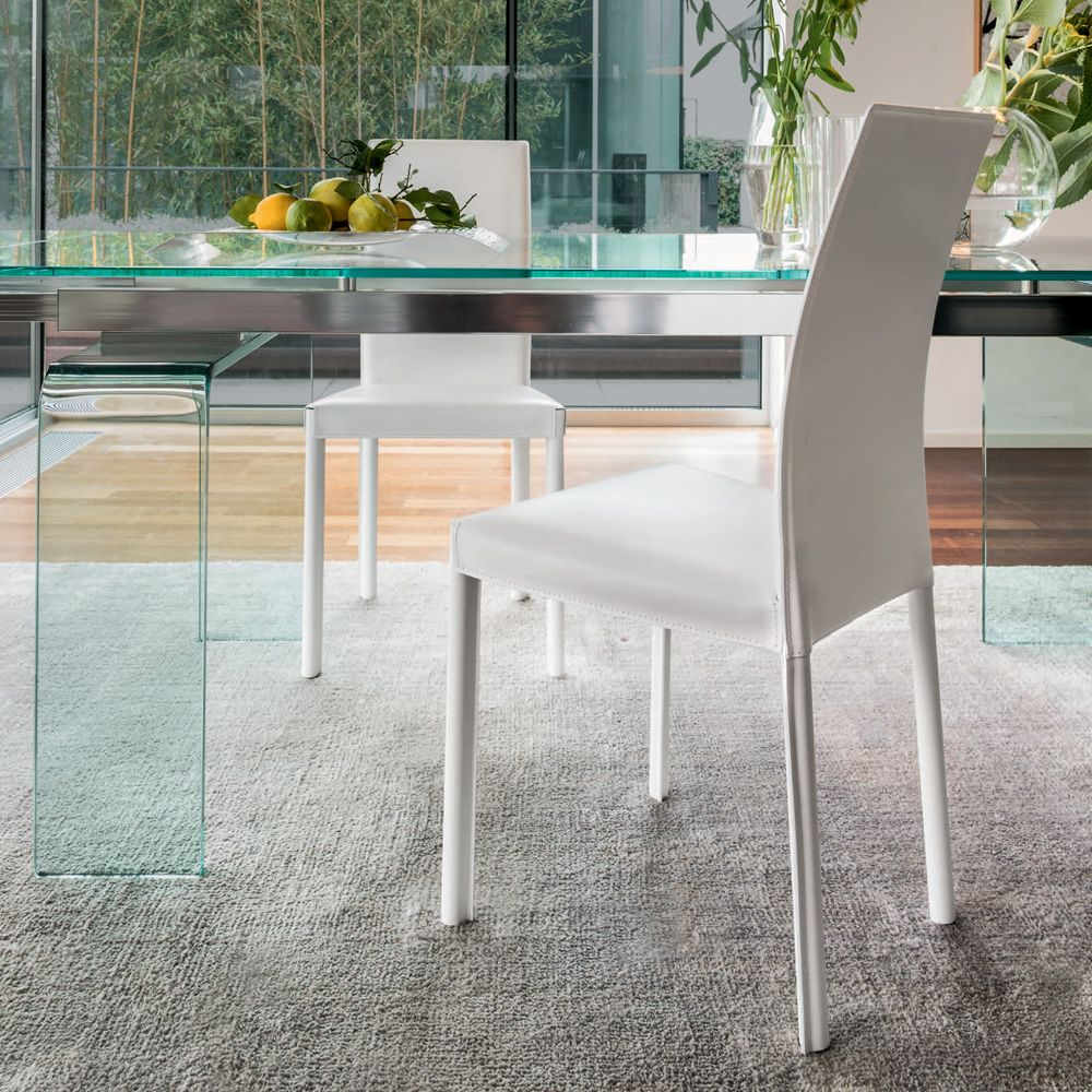 plaza 7299 stuhl tonin casa mit leder bezogen sediarreda. Black Bedroom Furniture Sets. Home Design Ideas