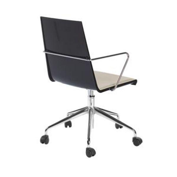 Snake office chaise de bureau pivotante et r glable en hauteur en m tal assise en for Chaise de bureau blanche