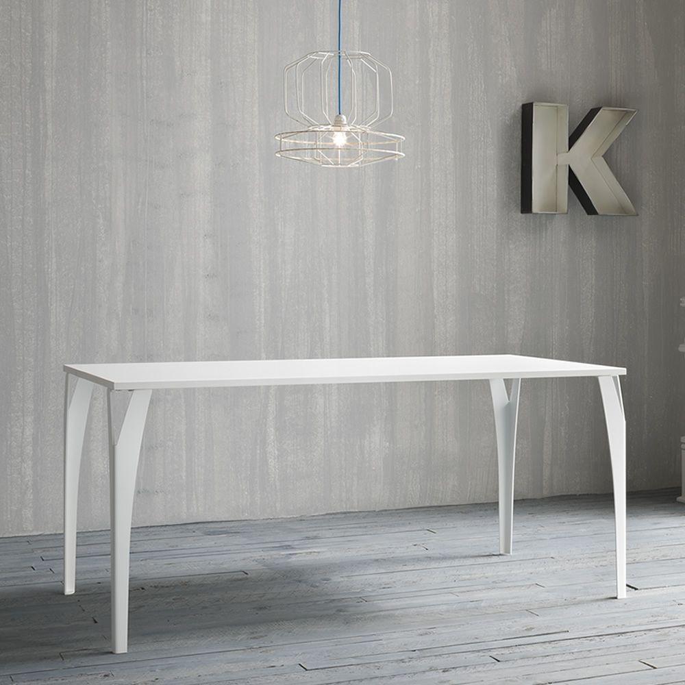 charme rechteckiger designer tisch aus metall fest in verschiedenen gr en und farben. Black Bedroom Furniture Sets. Home Design Ideas