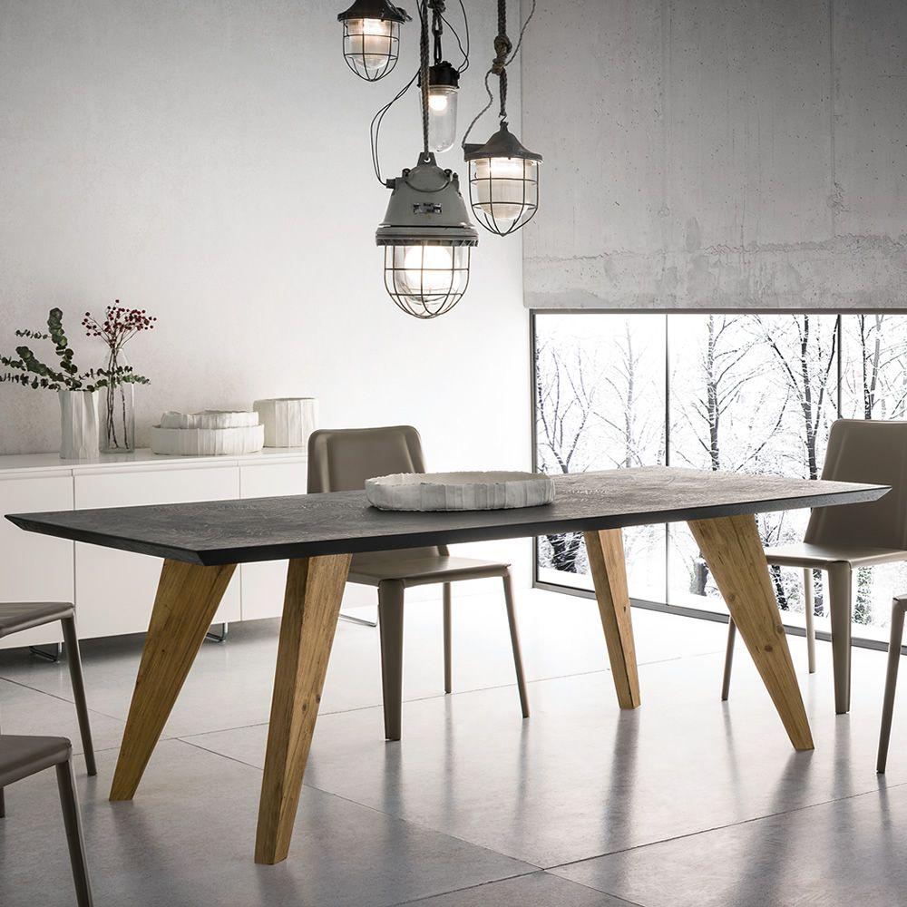 Artemidoro - Tavolo fisso di design in legno, 160 x 90 cm, piano in ...