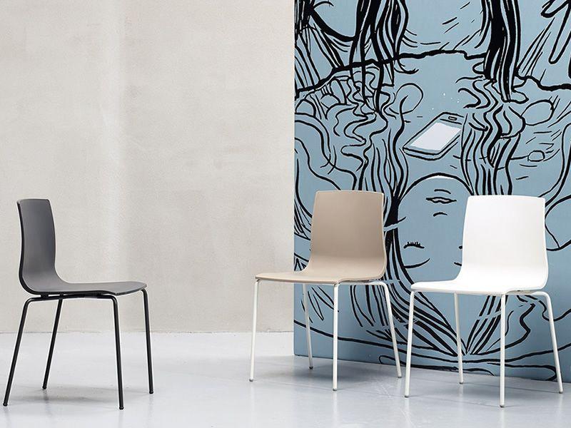 Alice v chair 2675 sedia moderna in metallo e tecnopolimero