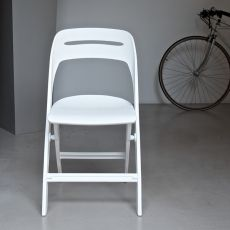 Garland 44.51 - Folding chair in polypropylene, available in different colours, suitable for outdoor