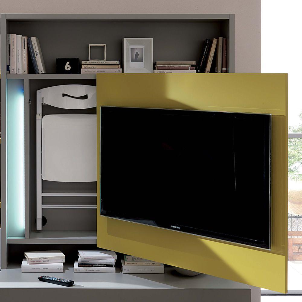 smart living mobile soggiorno in legno con porta tv