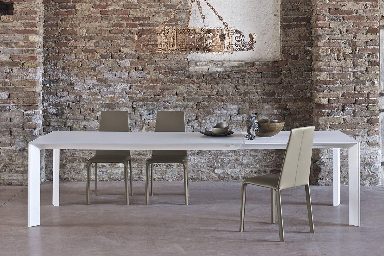 Genio design table bontempi casa in aluminium with 140x90 cm