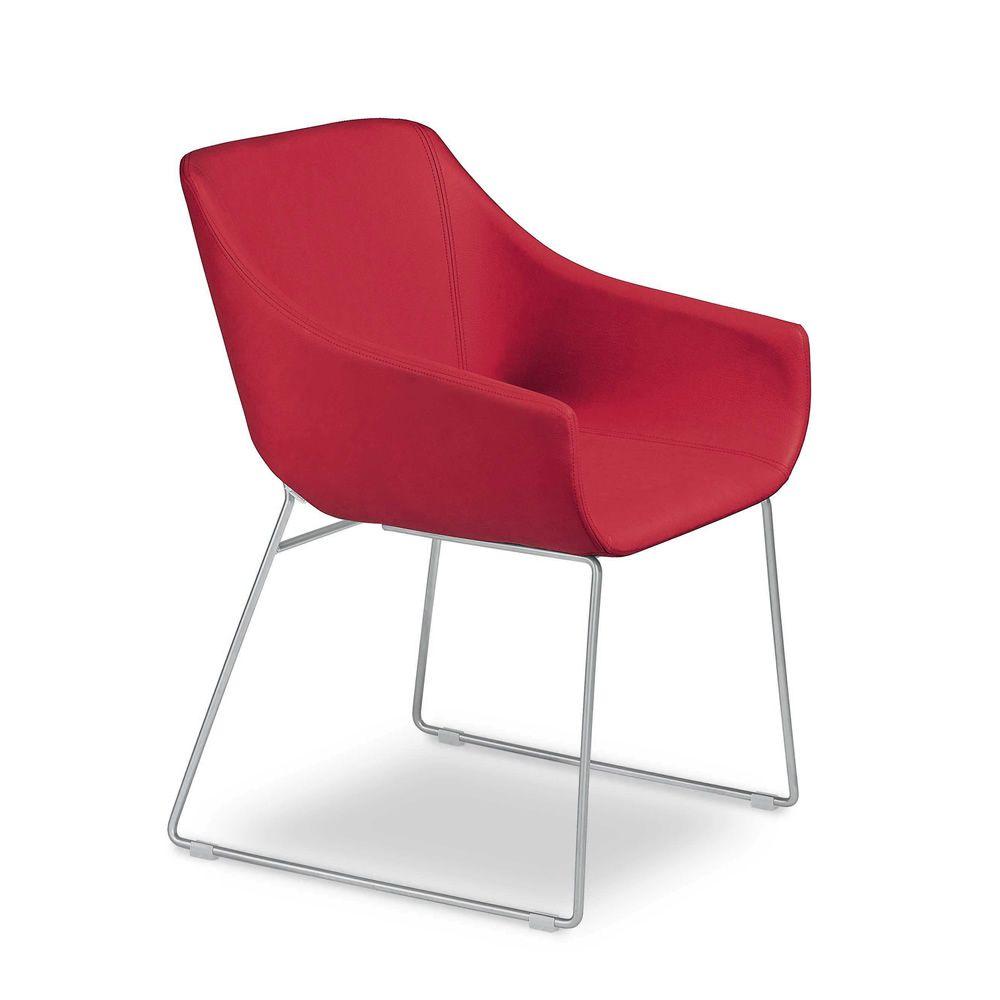 Lili fauteuil design de tonon structure en m tal cuir ou tissu disponible - Petit fauteuil en cuir ...