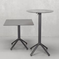 Nemo 5070 - Basamento per tavoli da bar o ristorante, in alluminio, con o senza meccanismo ribaltabile, disponibile in varie dimensioni e colori, anche per esterno