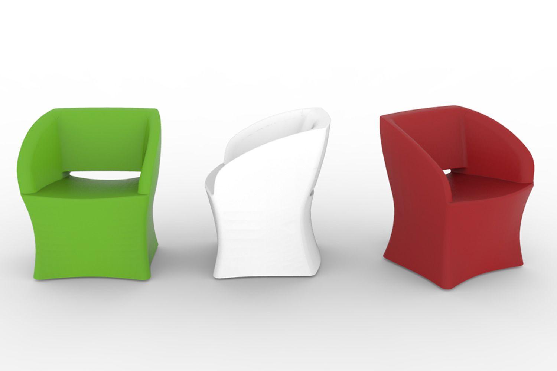 Sunrise poltrona design per esterno di tonon in diversi colori