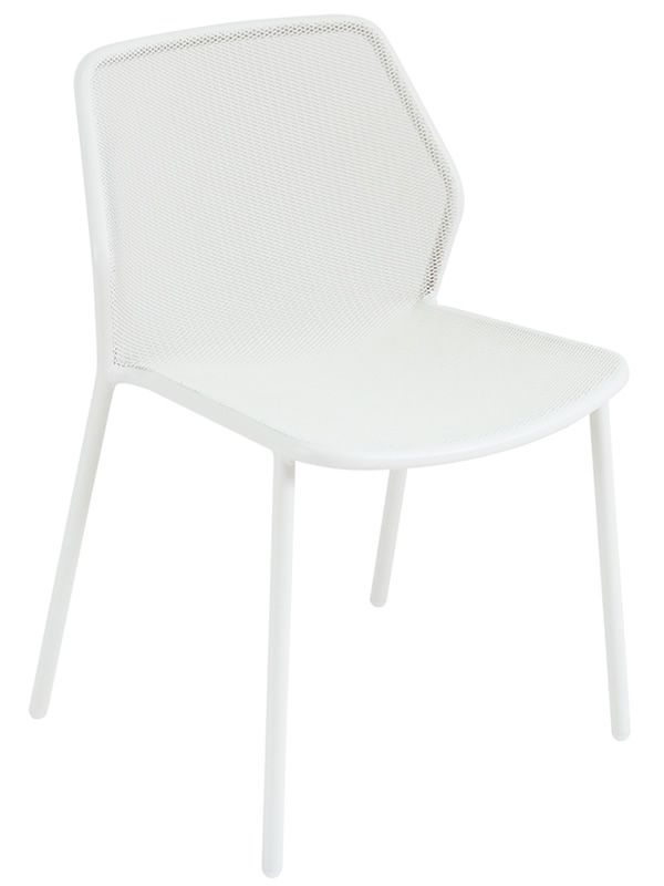 Darwin Emu chair in metal stackable several colours  : darwin white varnished metal chiar from www.sediarreda.com size 600 x 800 jpeg 21kB