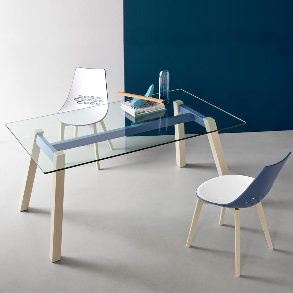 Cb4781 t table tavolo fisso connubia calligaris in for Tavolo calligaris vetro temperato