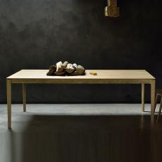 Bok-T - Tavolo fisso Ethnicraft in legno, piano rettangolare, diverse finiture e misure disponibili