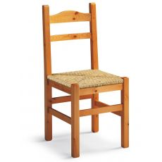 AV109 - Country-style chair in pine wood, several colours and seats, for restaurants