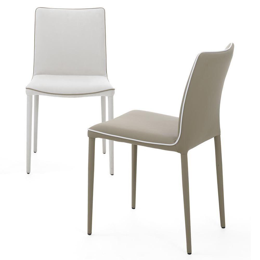 nata gepolsterter stuhl bontempi casa aus metall mit. Black Bedroom Furniture Sets. Home Design Ideas