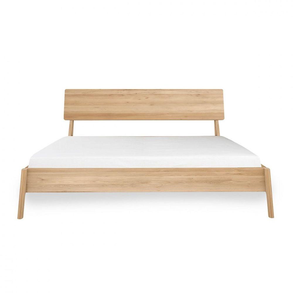 Air cama matrimonial ethnicraft con estructura de madera for Medidas cama matrimonial