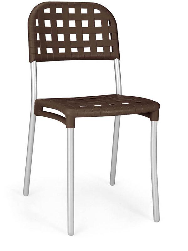 alaska chaise en m tal et r sine empilable aussi pour. Black Bedroom Furniture Sets. Home Design Ideas