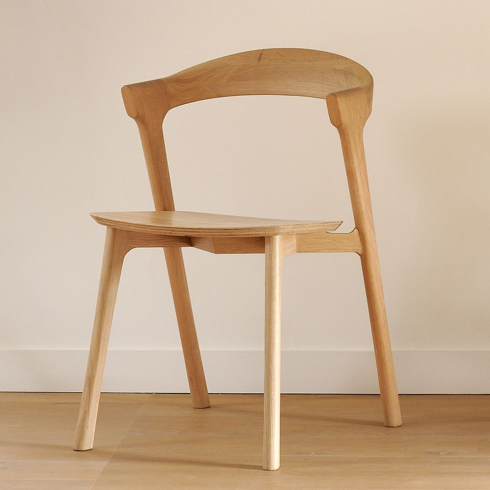 Bok - Chair made of oak wood with natural finish ... & Bok: Ethnicraft chair made of oak wood different finishes available ...