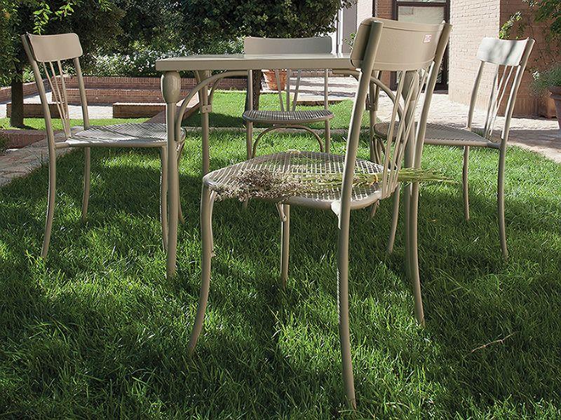 Retrò s sedia in metallo impilabile per giardino sediarreda