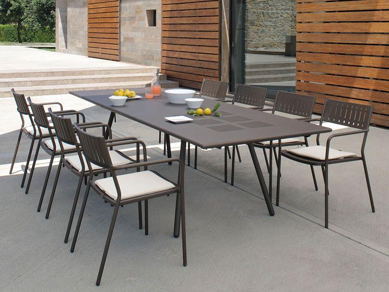 Bridge t tavolo emu in metallo disponibile in diverse for Emu arredo giardino outlet