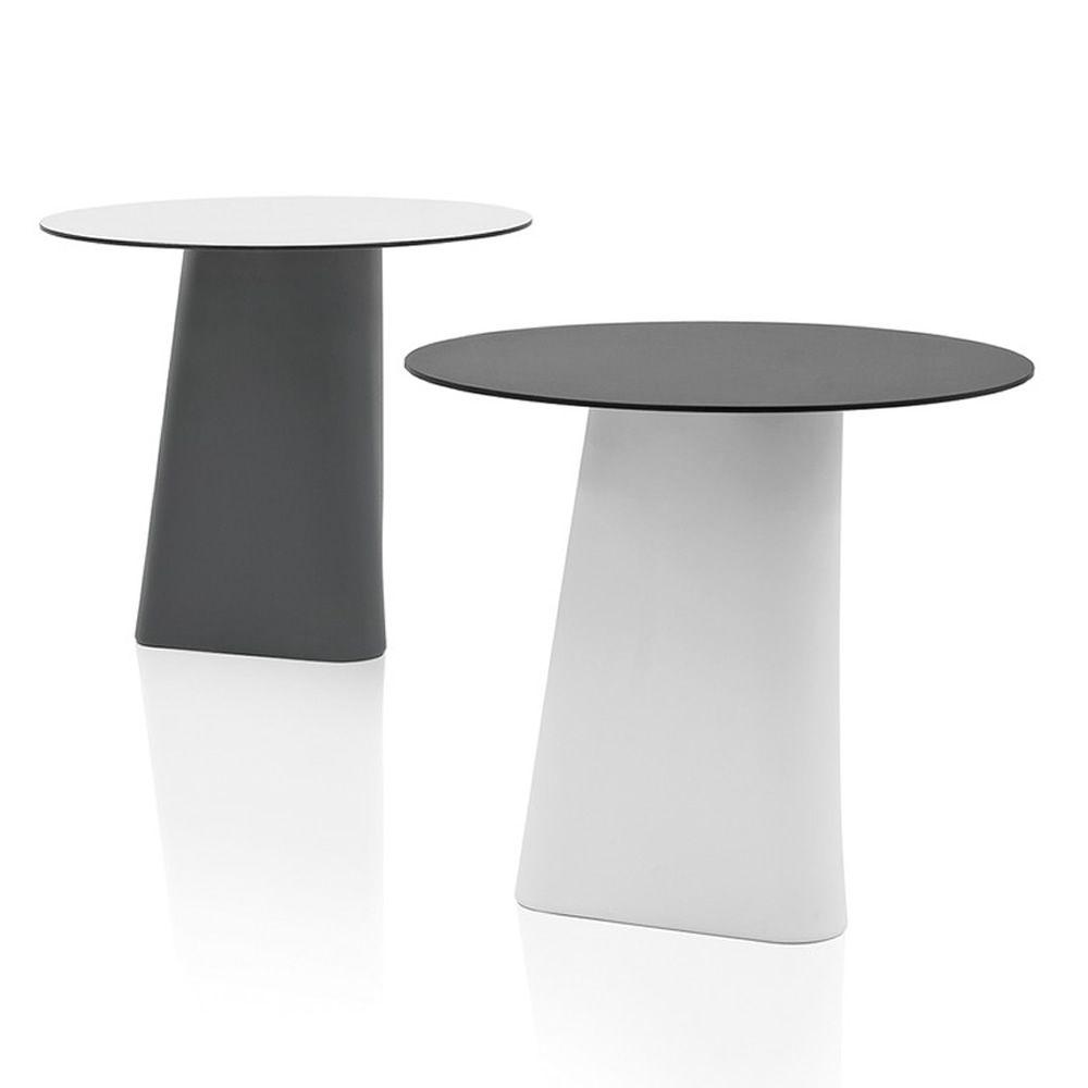 adam 80 table design b line id ale pour l 39 ext rieur en poly thyl ne et plateau rond en. Black Bedroom Furniture Sets. Home Design Ideas