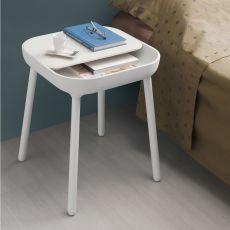 App-B - Tavolino Domitalia in legno, piano in poliuretano e MDF laccato, diversi colori disponibili