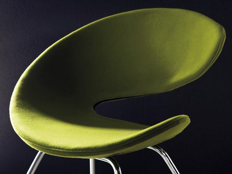 Twist ts stuhl midj aus metall sitz mit leder for Design stuhl leder metall