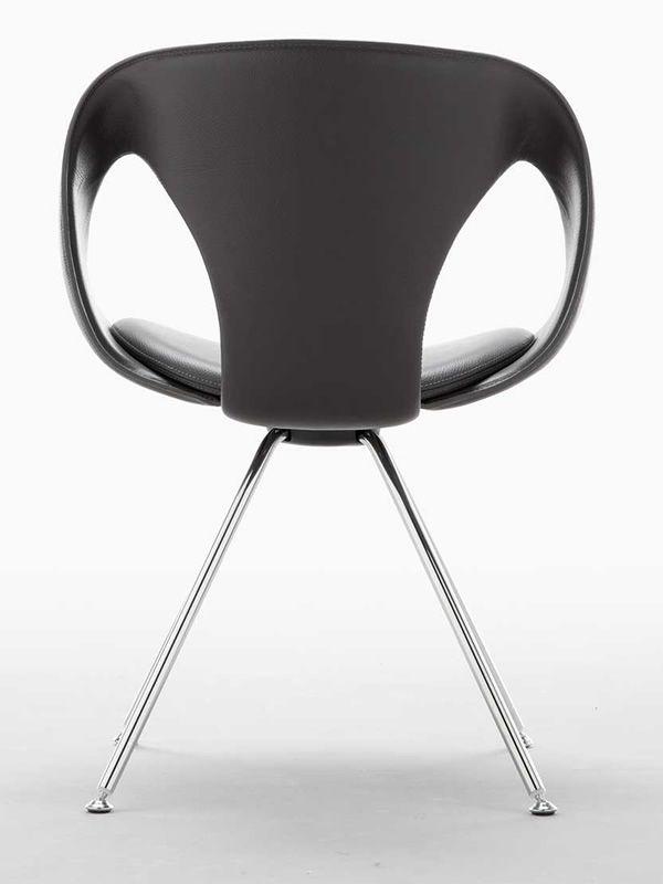up chair leather design stuhl von tonon aus metall mit. Black Bedroom Furniture Sets. Home Design Ideas