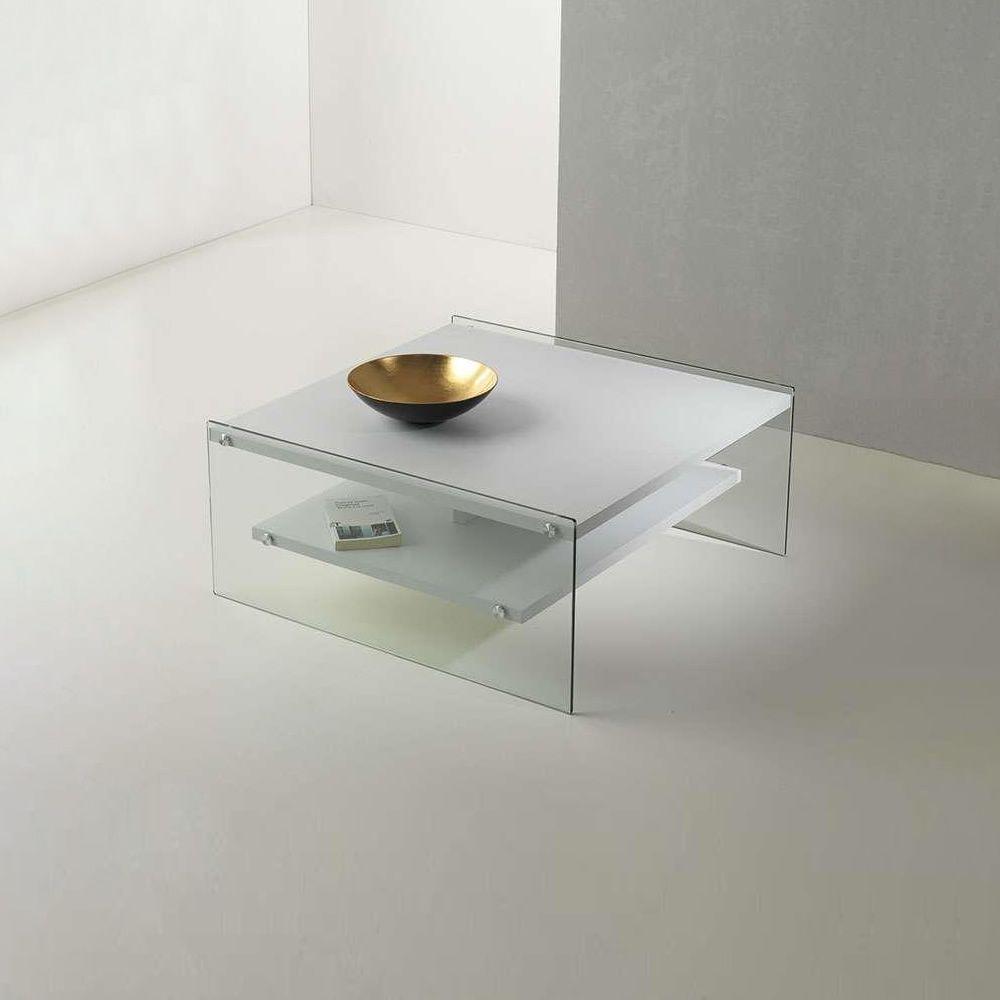 maxim table basse en verre et plateau en stratifi. Black Bedroom Furniture Sets. Home Design Ideas