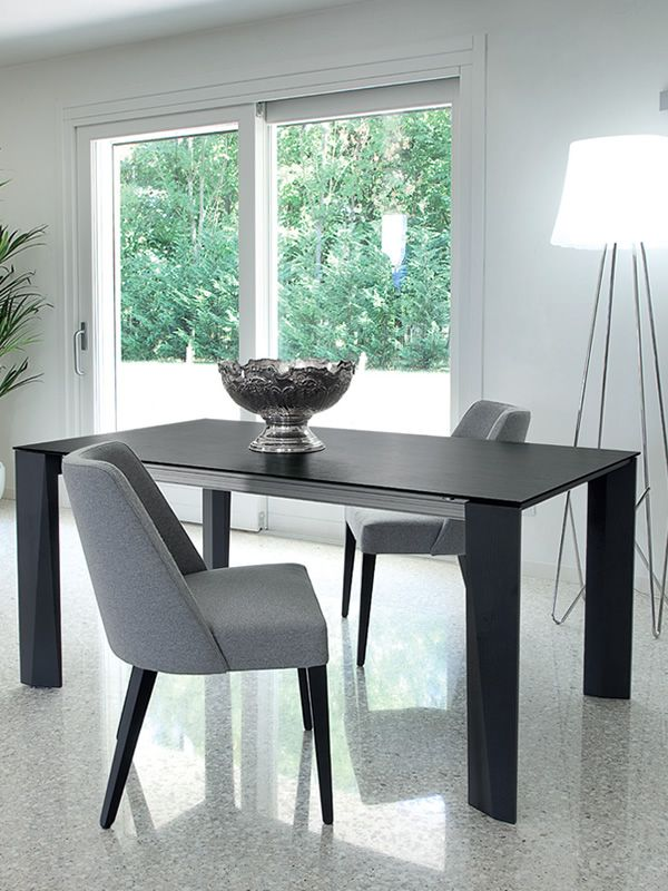 Maxim 160 table extensible domitalia en bois plateau en for Table 160 avec rallonge