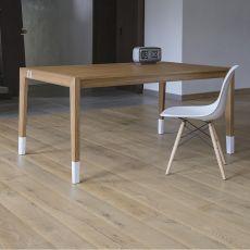Tavolo 01 - Tavolo allungabile in legno di rovere, piano 160x90 cm