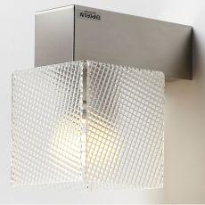 Didodado P - Lampada da parete in acciaio e metacrilato, in diversi colori