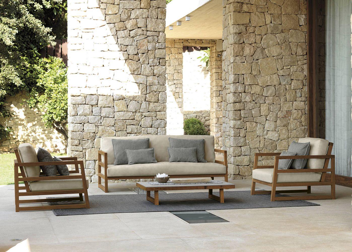 Alabama set set design da giardino: divano 2 poltrone e un