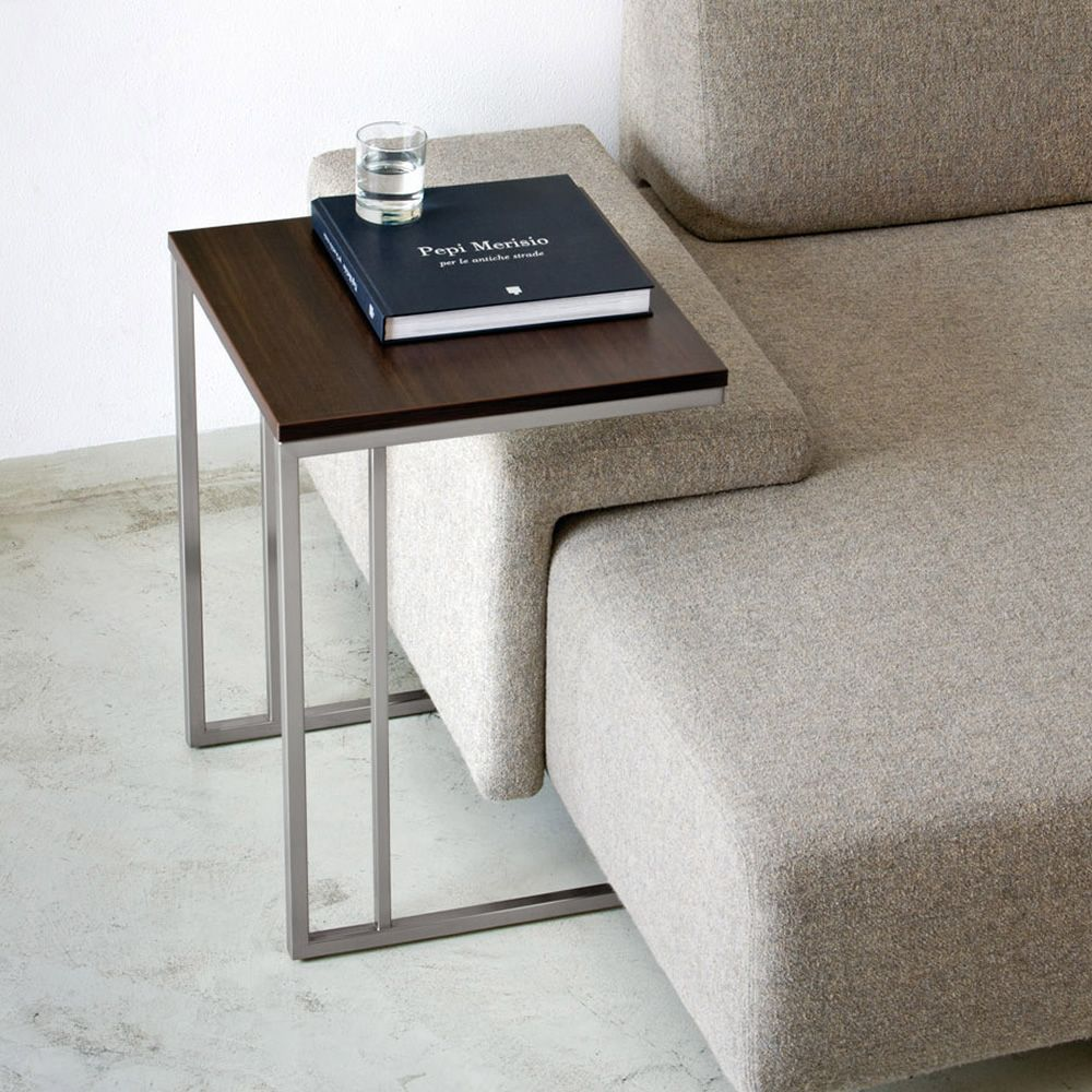 Side table mesita pedrali en metal con tapa en laminado for Couch beistelltisch