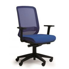 Bali - Task chair for office, with mesh backrest and upholstered seat, with or without adjustable armrests, different finishes available