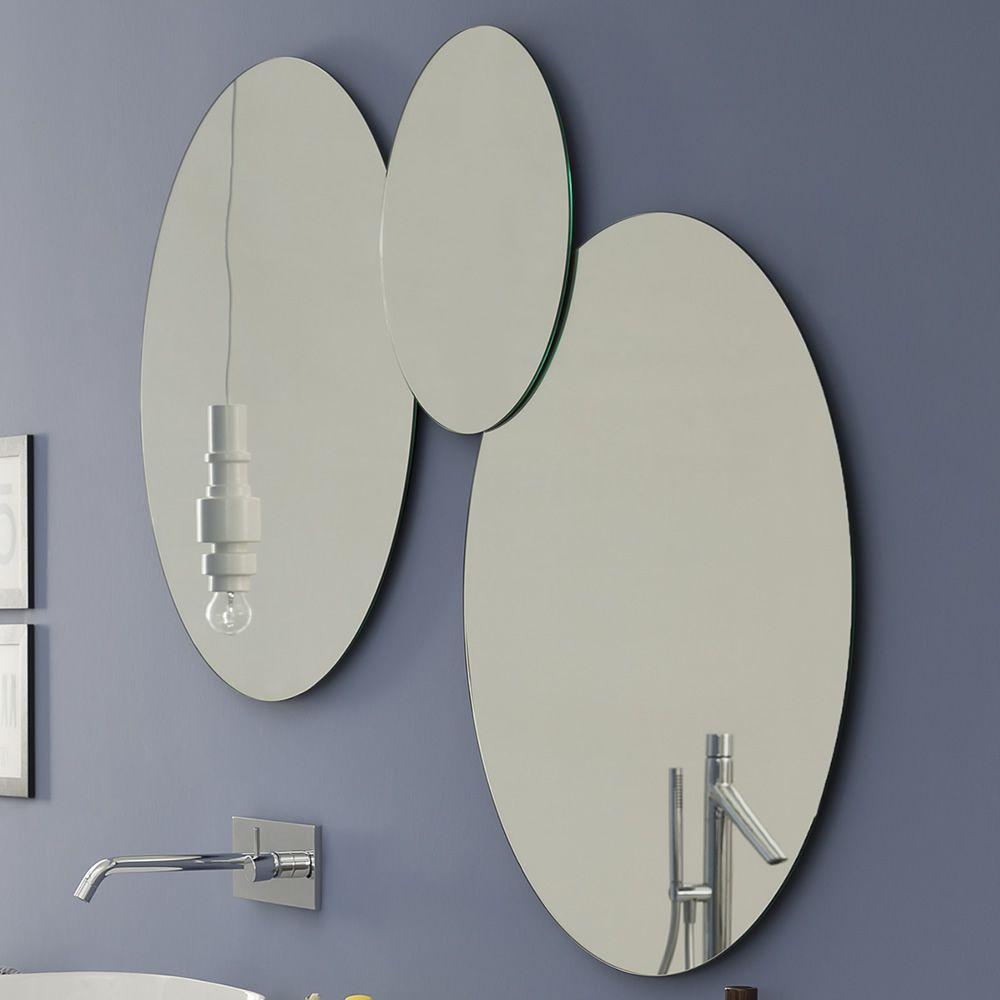 Acqua c composition de miroirs en forme ronde disponible for Miroir 0 coller