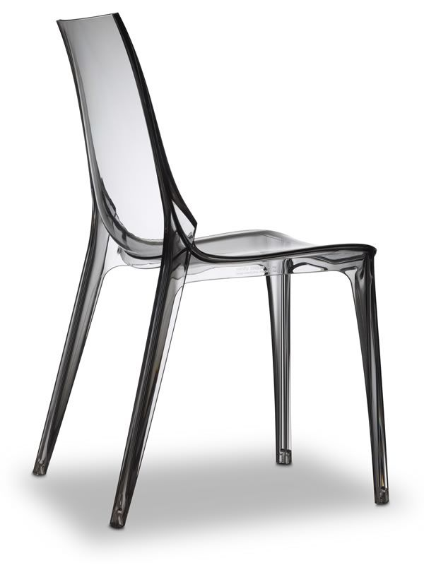 Vanity chair 2652 sedia design in policarbonato for Sedia design giardino