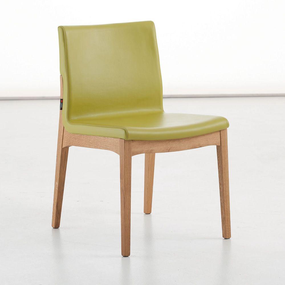 Larissa sedia di design in legno seduta imbottita for Sedia di design