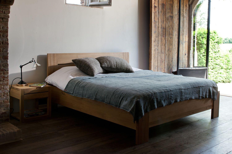 Azur letto matrimoniale ethnicraft con struttura in - Spalliera letto matrimoniale legno ...