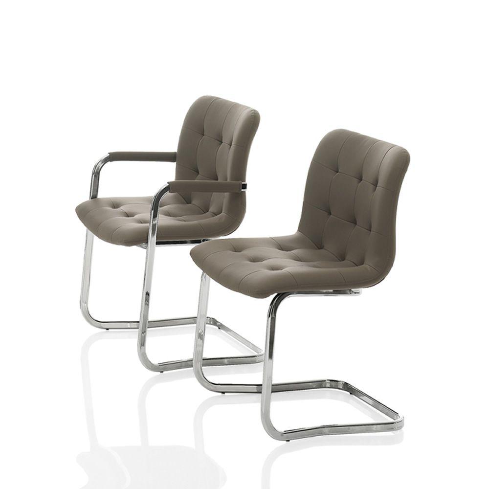 kuga gepolsterter stuhl bontempi casa aus metall mit kufengestell mit verschiedenen bez gen. Black Bedroom Furniture Sets. Home Design Ideas