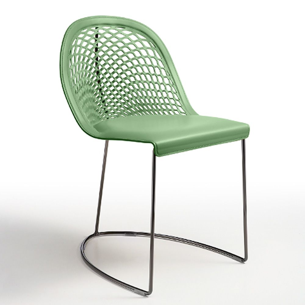 Guapa s midj metal chair hide seat sediarreda online sale for Metal design chair