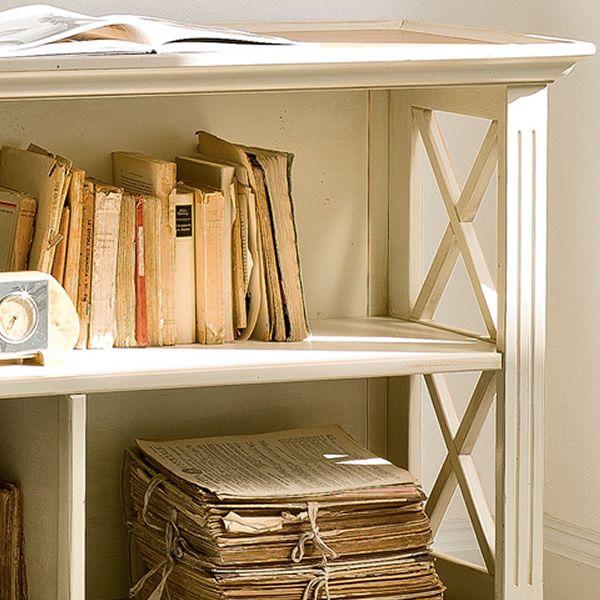 alina 1485 klassisches und niedriges b cherregal tonin casa aus holz in verschiedenen. Black Bedroom Furniture Sets. Home Design Ideas