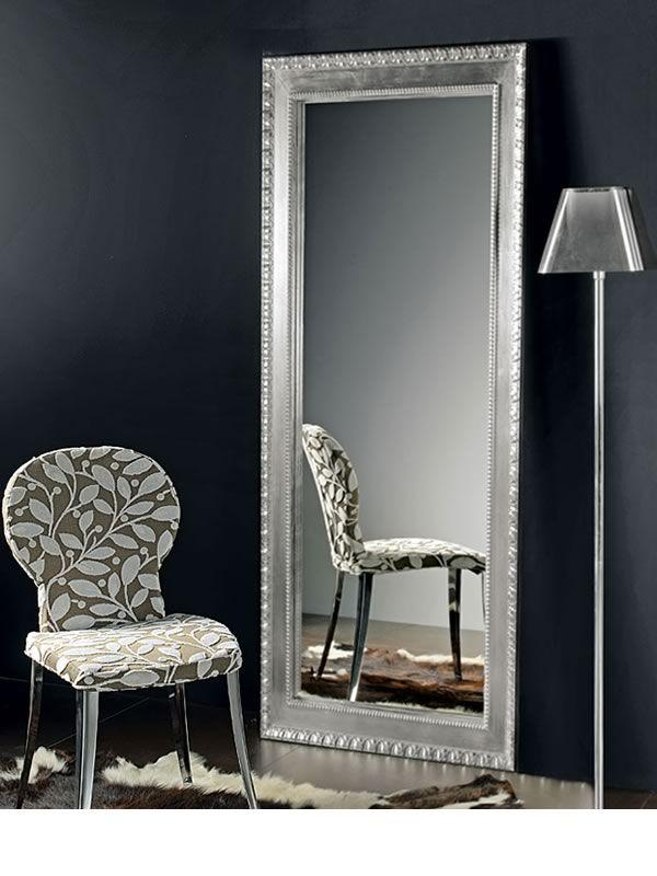 flat l miroir en bois avec cadre marquet d coration feuille argent et or 70 x 170 cm sediarreda. Black Bedroom Furniture Sets. Home Design Ideas