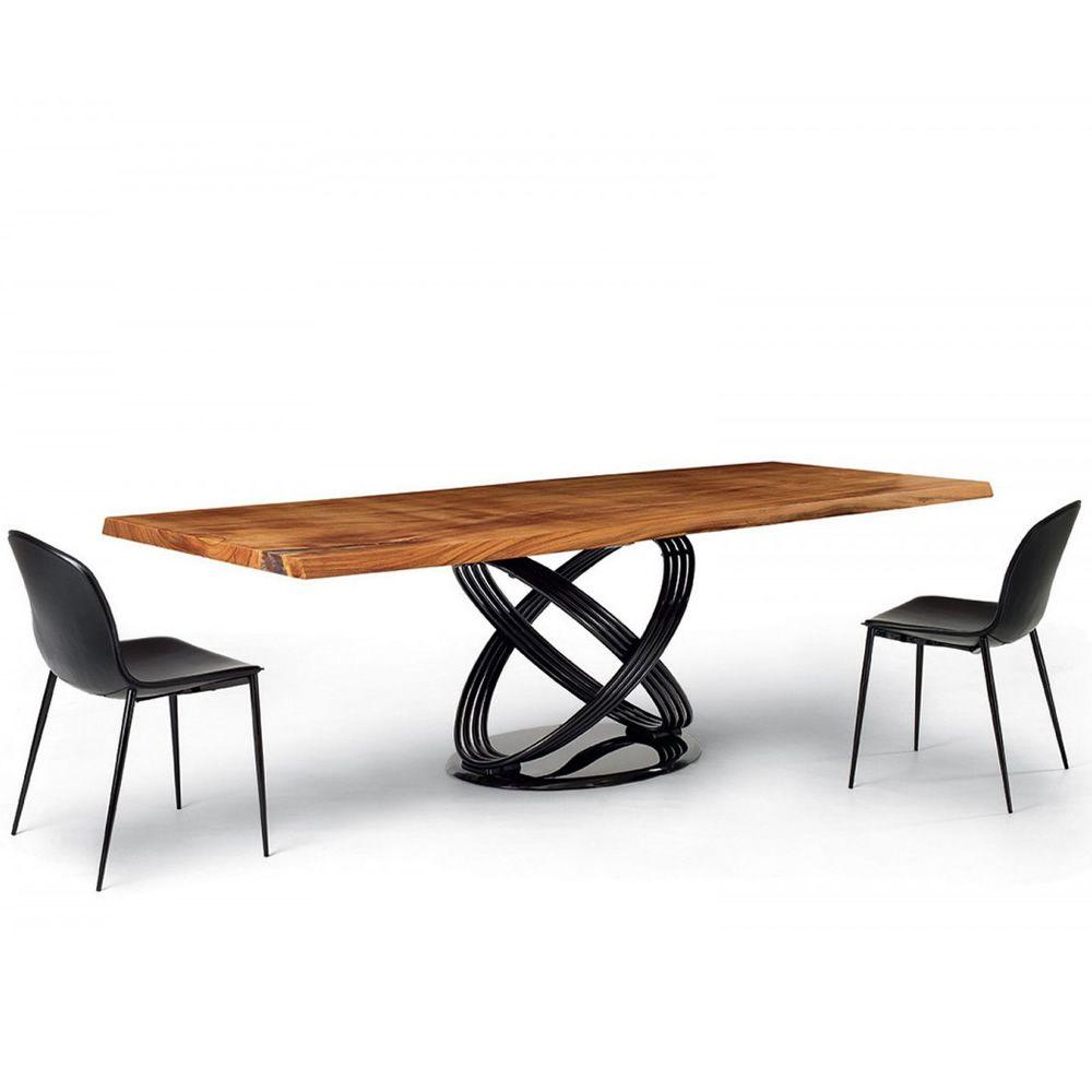 Fusion wood tavolo di design di bontempi casa in for Tavolo di design in metallo