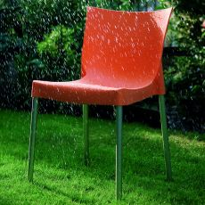 Diva Off - Stackable chair Bontempi Casa, in aluminium and polypropylene, available in different colours, also for outdoor