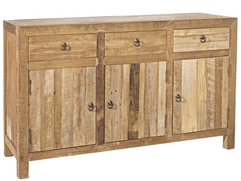 agri buffet en teck recycl 150x45 cm hauteur 90 cm sediarreda. Black Bedroom Furniture Sets. Home Design Ideas