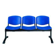 ML100 Panca P - Panca per sala d'attesa con sedute in plastica di vari colori, diverso numero di posti