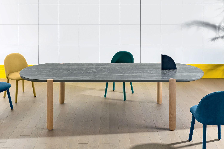 Ovo tisch miniforms aus holz platte aus holz oder for Travertin tisch